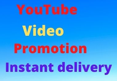 Fast youtube video and social media marketing promotion instant delivery