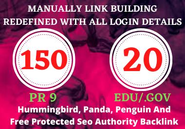 I will Manually Create 150 Pr9 + 20 Edu/Gov Dofollow DA 90+ SEO profile backlinks