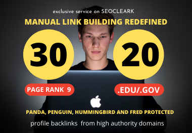 I will Manually Create 30 Pr9 + 20 Edu/Gov Dofollow DA 90+ SEO profile backlinks