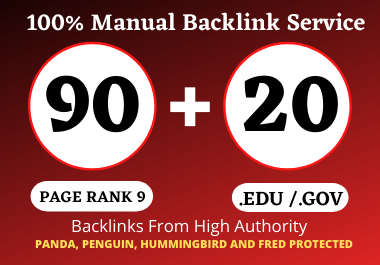 90 PR9 + 20 Edu/Gov PR9 High Quality Profile Backlinks - Boost Your Website Ranking