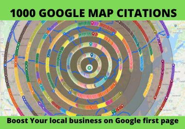 I will do 500 map citation for local seo and google my business