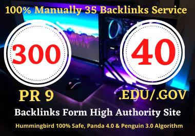 I will create 300 Pr9 + 40 Edu/Gov HQ Profile Backlinks Boost Your Website Google Ranking