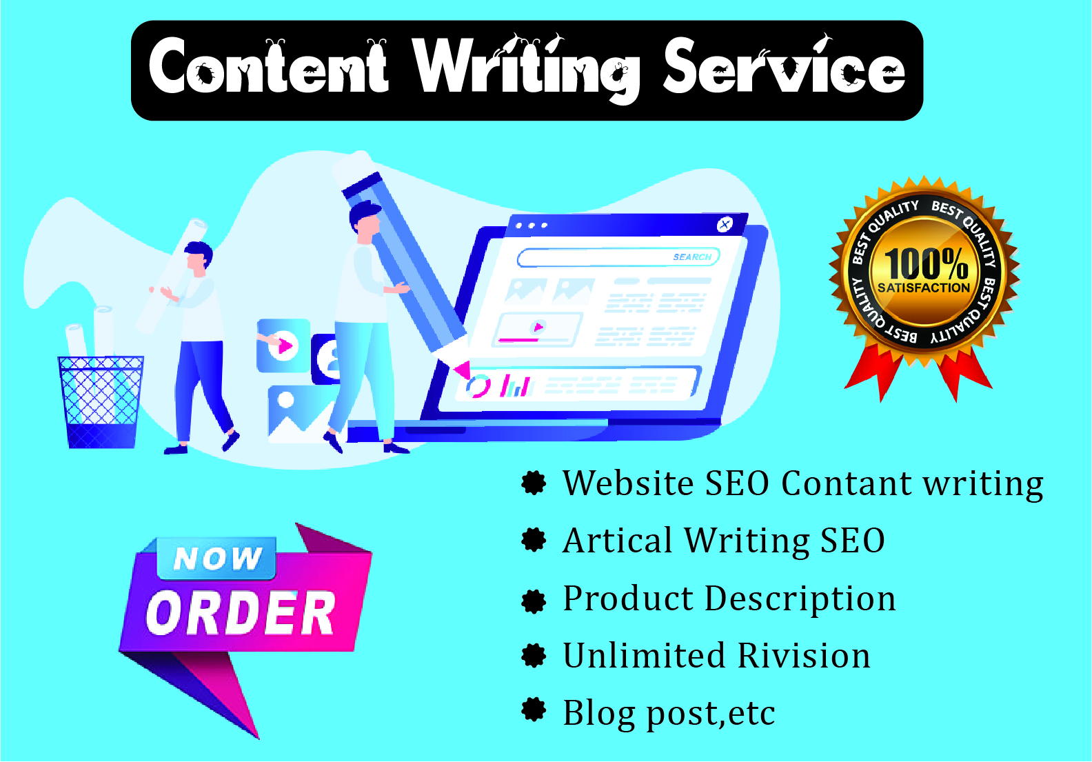 SEO friendly Content Writing website article and blog writer.