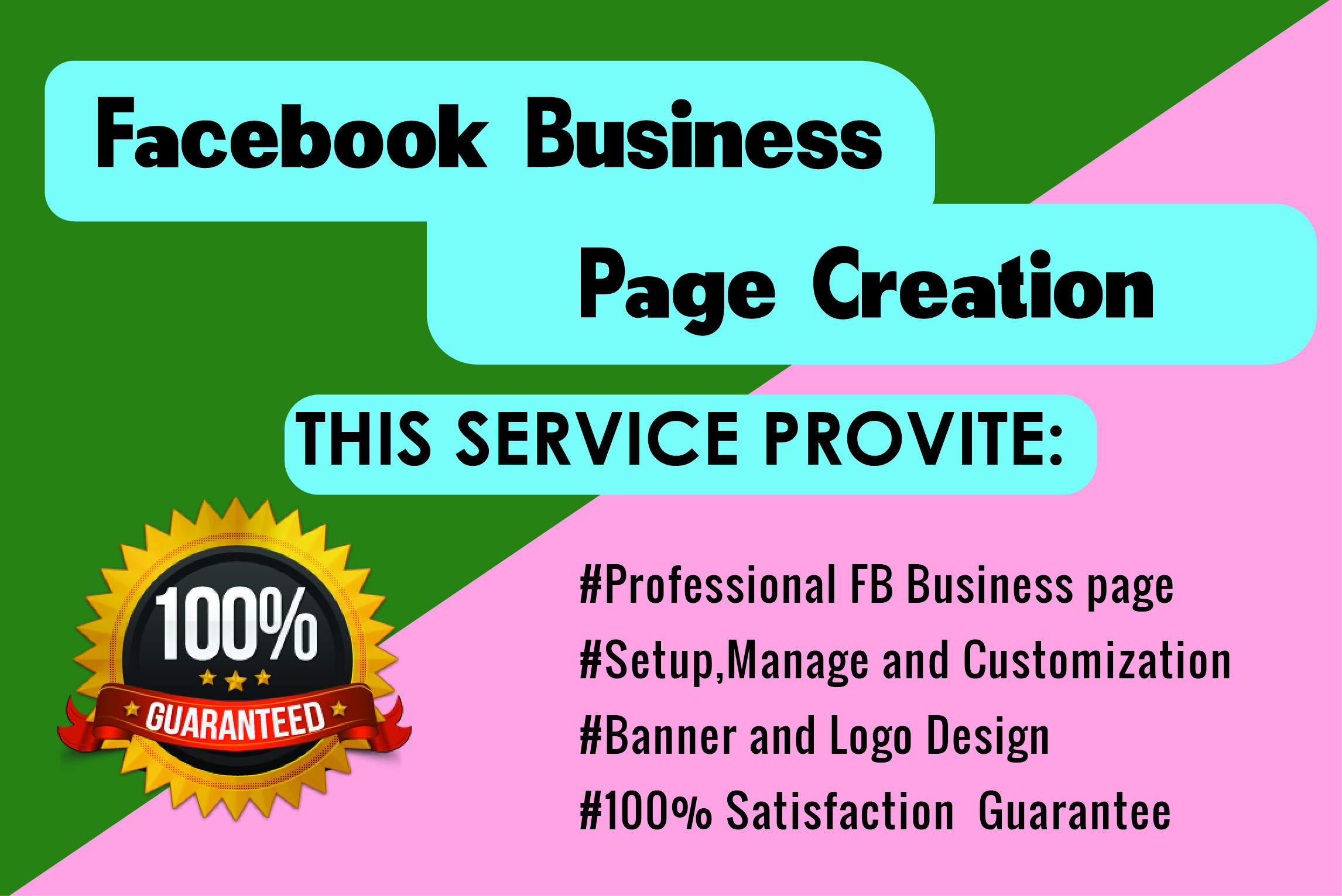 I will Create Facebook Business Page, Setup, Optimize and Customize
