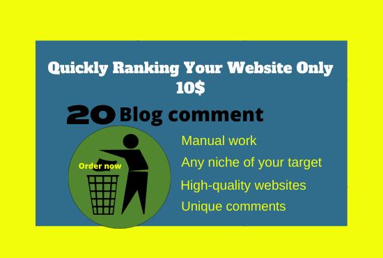 Index Your Website 20 High Authority Mannually Blog Comment