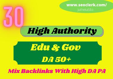 I will create manually 20 profile+10 edu & gov seo backlinks service