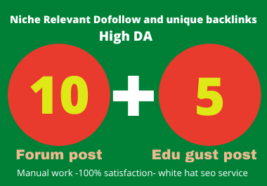 I will create manually dofollow Edu gust & forum posting backlinks