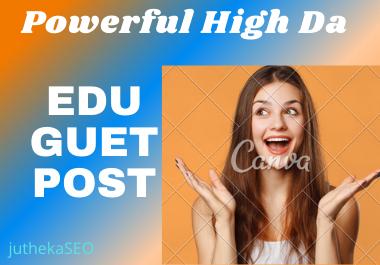 Manually Top 10 High DA Dofollow Edu Guest Post