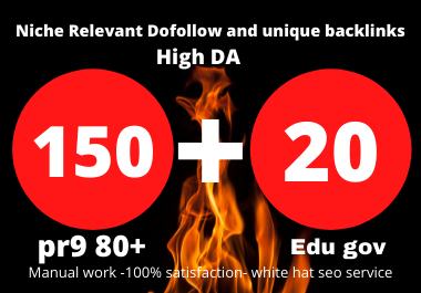 I will create 150 high quality pr9 +20 Edu Profile Backlinks with high DA& PA