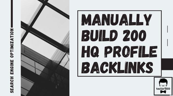 I'll provide 200 high-quality DA 80+ social media SEO profile creation backlinks