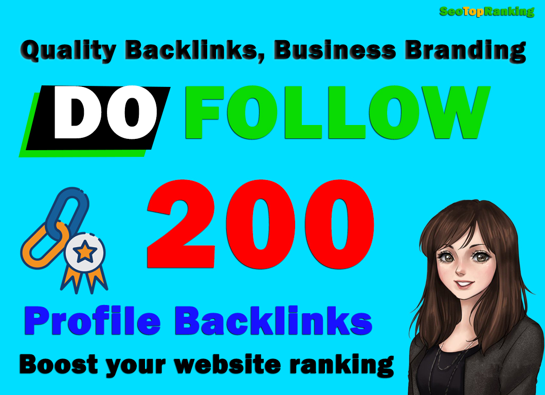 Manually Create High Authority DA90 PR9 200 Permanent Profile Backlinks,  link building