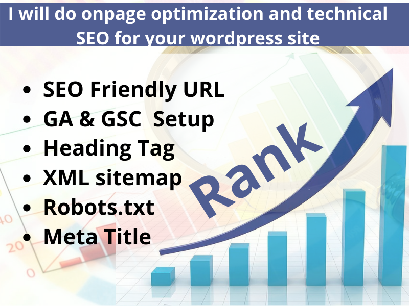 I will do onpage optimization and technical SEO for your wordpress site