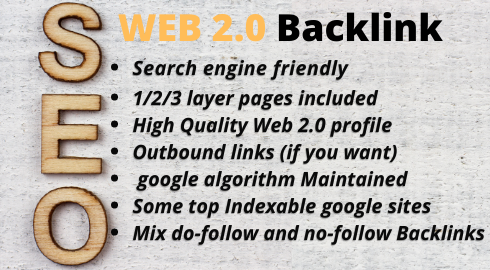 I will do 50 high Quality Web2.0 for you