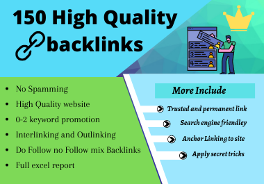 150 High Quality permanent Profile Backlinks Search engine friendly