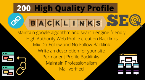 I will Creat 200 HQ edu,  sports,  etc Profile Backlinks with latest google terms