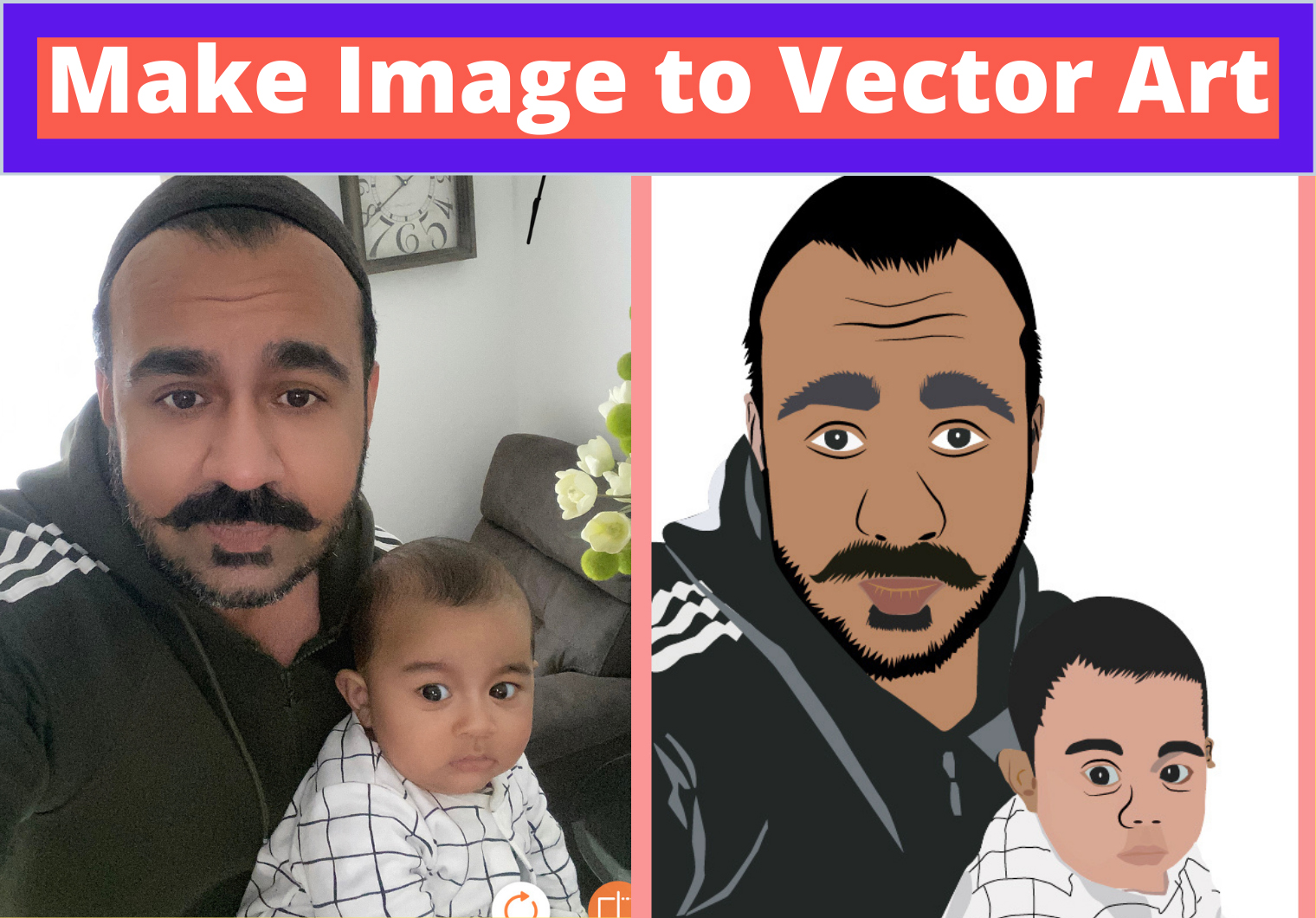I will Make your Image into the Vector portrait art