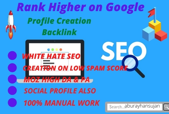 Build 30 high quality profile creation backlinks