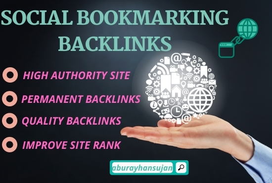 Build 30 social bookmarking submission on high authority websites