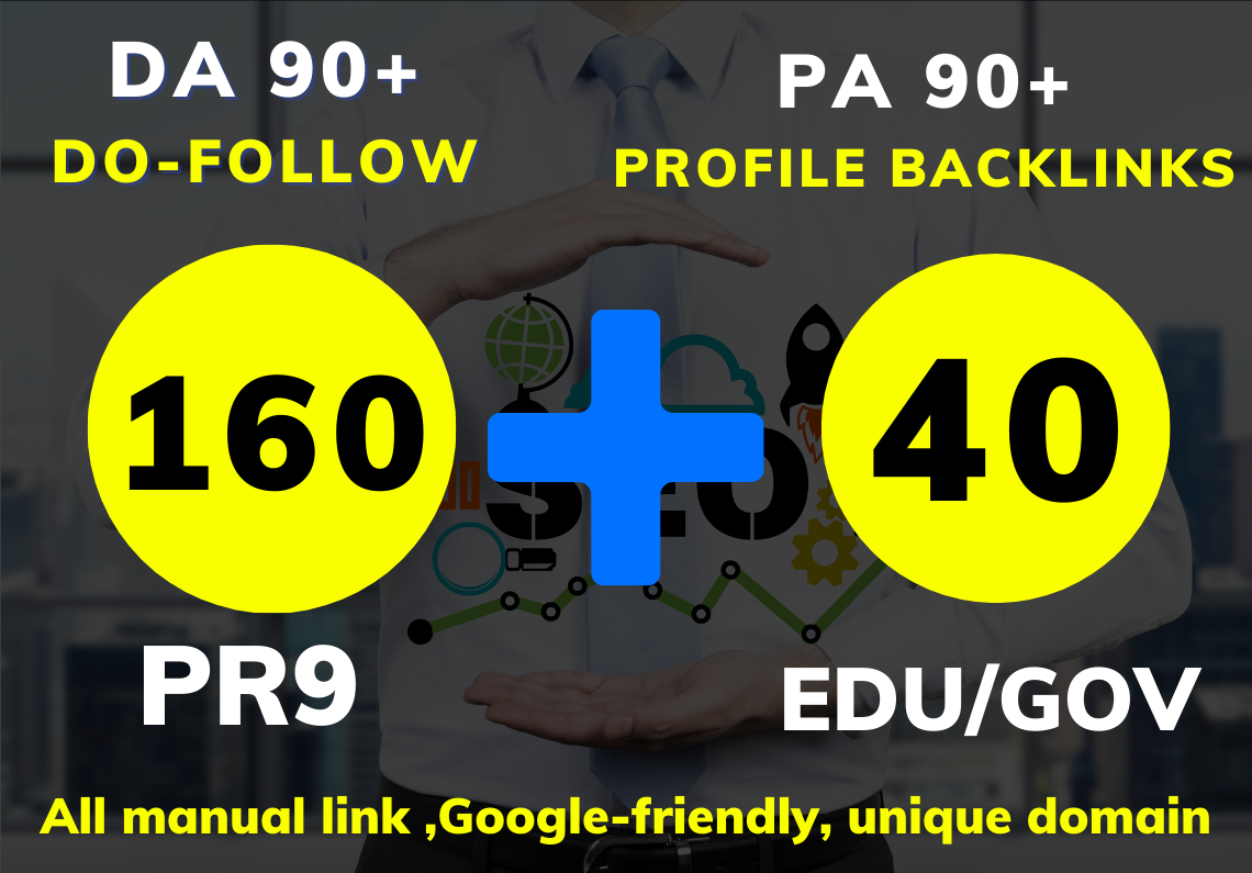 The best 200 Profile backlinks Do-follow with DA80+ & PR9+