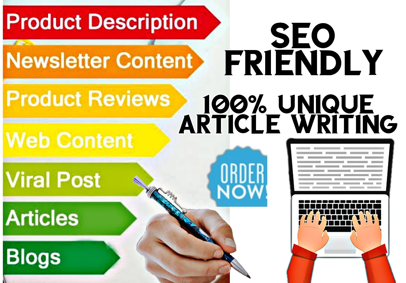 Article writing || 2 X 1000 Words High Quality Unique SEO friendly Content/Article For your nishe