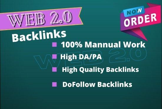 I Will Creat 10 SUPER HIGH AUTHORITY WEB 2.0 Backlinks