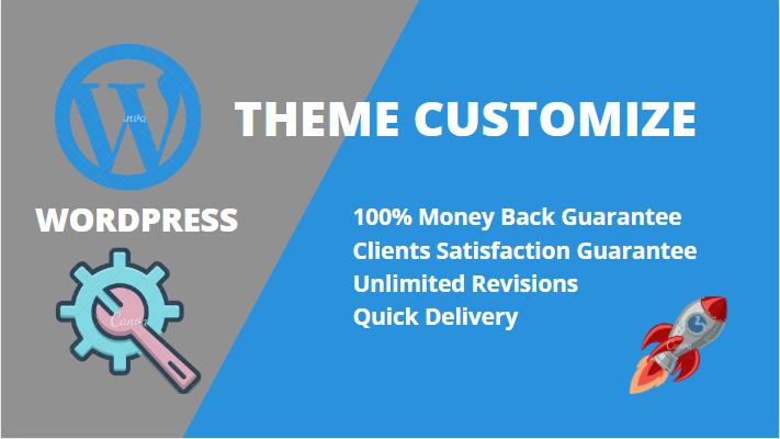I will do WordPress theme customization redesign and ecommerce website