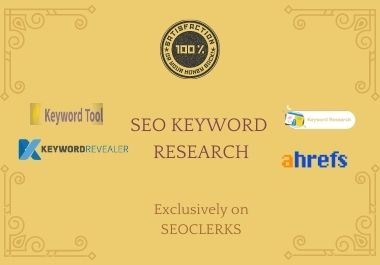 I will do profitable SEO keyword research for any niche