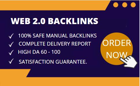 I Will Do 10 Web 2.0 Backlinks Manually With High DA