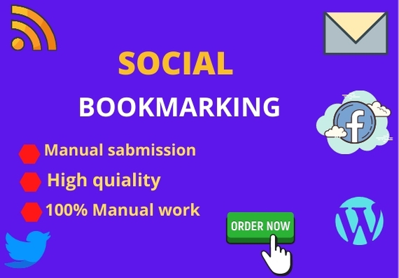 I will create top 40 high quality social bookmarking backlinks for google ranking