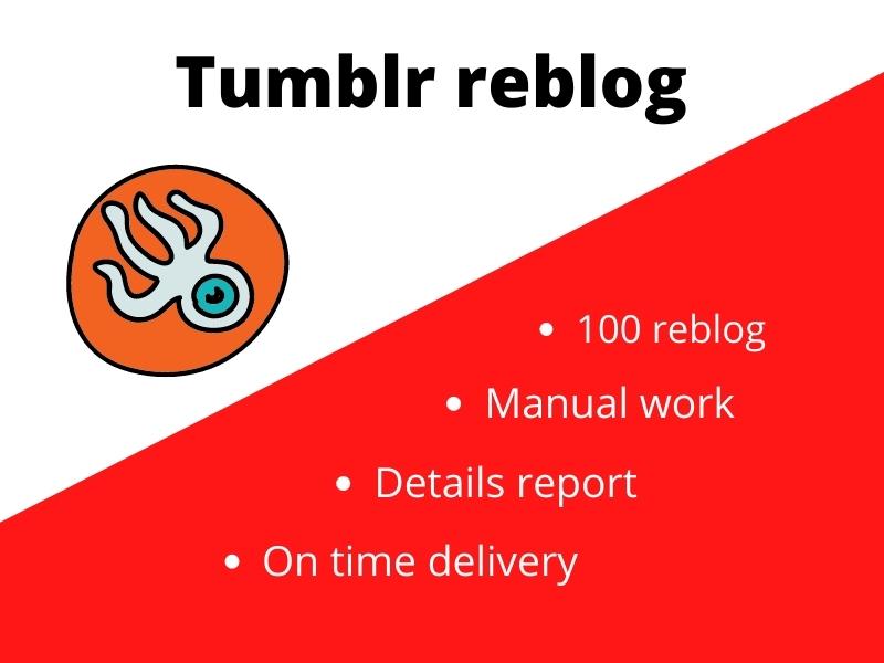 Tumblr rebloging for your blog to get viral