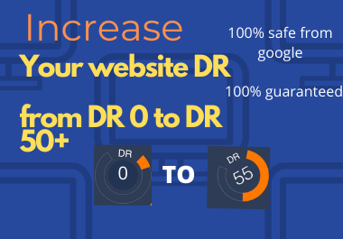 Boost your website DR from 0 to 50+ within 15 days - just for 20