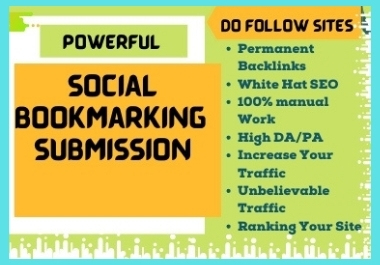 I will develop manually 50+ Social Bookmarking Backlinks