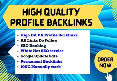 I will construct HQ Profile Backlinks for SEO