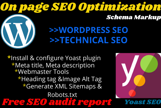 I will do Wordpress Yoast SEO optimization with meta tag,  title,  description, image alt tag