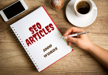 I will write SEO friendly articles with 1000 words