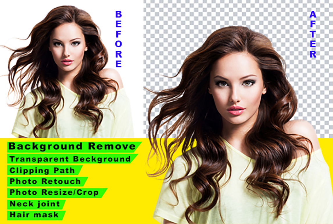 I will do clipping path background remove hair masking and retouching 3 images
