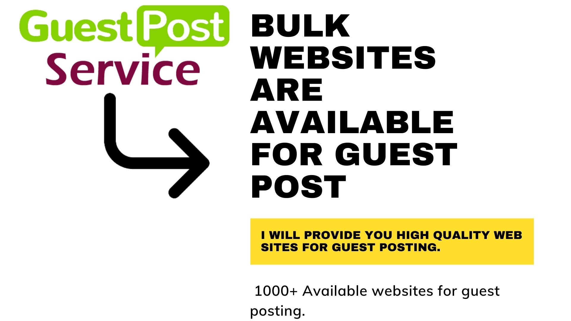Bulk quantity high quality backlinks available for guest post