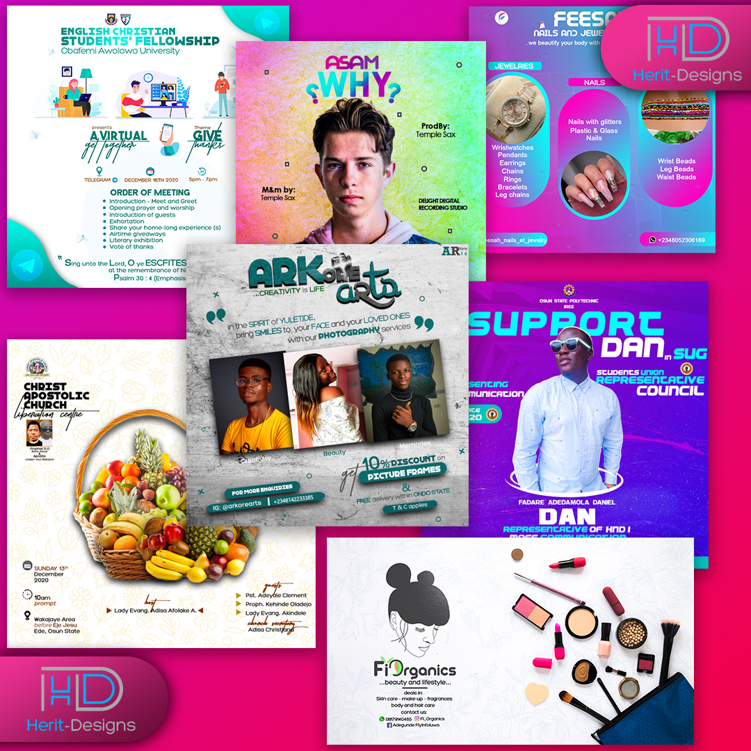 I design unique and attractive social media Ad,  cover and post,  web banner and E-flyer