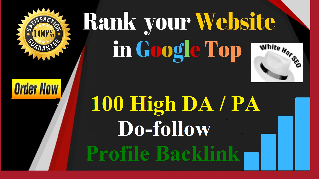 I will manually create 100 Pr9,  DR > 50 High authority do-follow profile backlinks