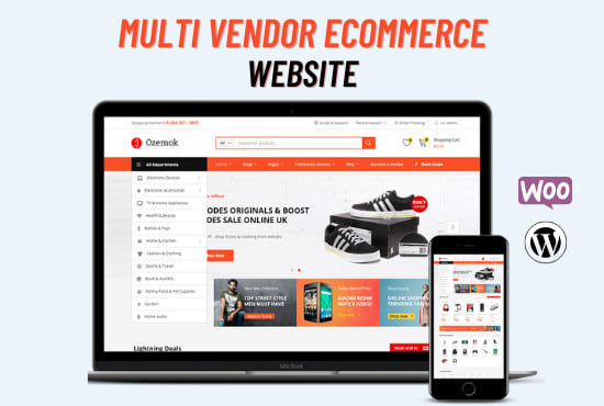 I will build a multi vendor ecommerce wordpress website for multi vendor marketplace