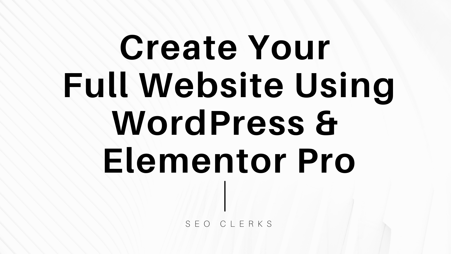 I will create your wordpress website using elementor pro page builder