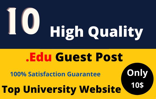 Dofollow 10 High DA EDU Guest Post on Top Universities Website
