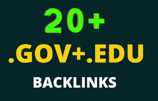 20 Edu/Gov Seo Backlinks High Authority website,  Profile Backlinks,  Blog comment etc