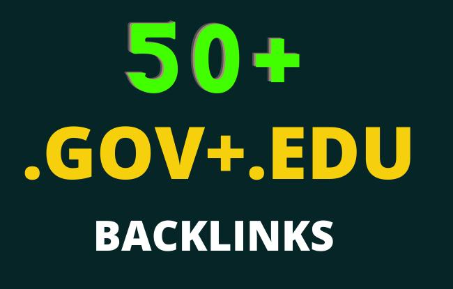 50 Edu/Gov Seo Backlinks High Authority website,  Profile Backlinks,  Blog comment etc