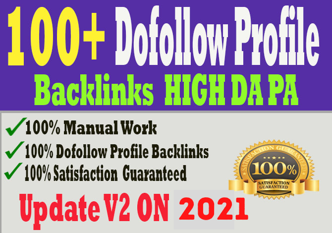 100 Pr9 With Do-Follow High Authority Profile Backlinks