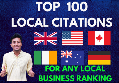 Manually Create Live 100 Local Citations Or Business Listing for Local SEO Ranking