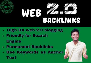 I will create High DA WEB 2. 0 Backlinks For Google Ranking