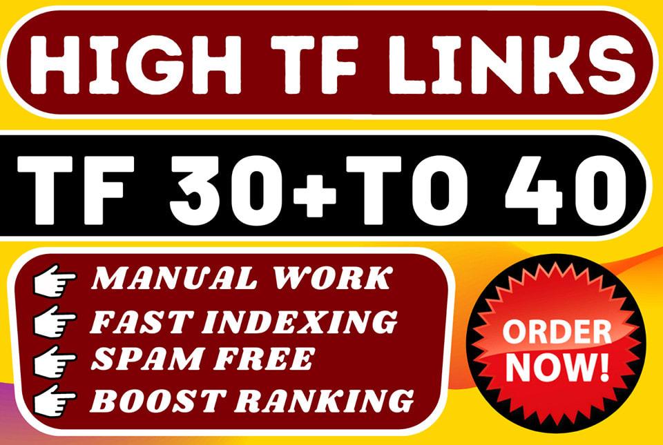 i will create 100 high tf homepage SEO backlinks