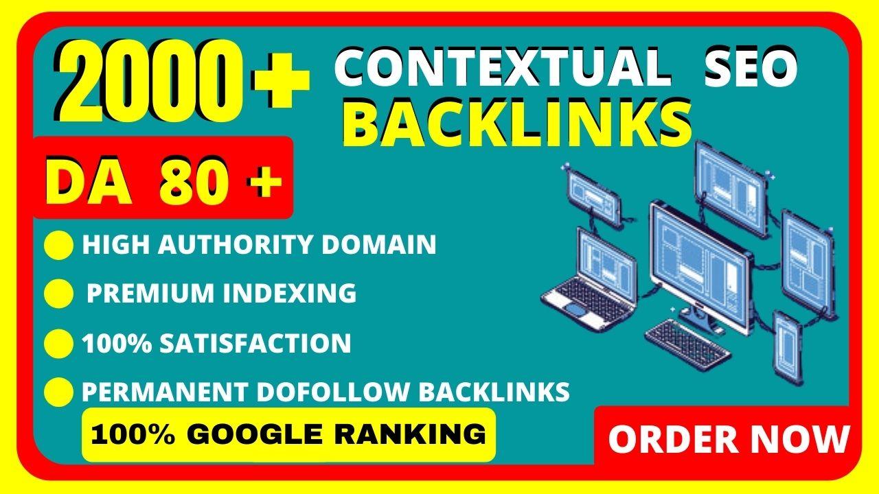 Create 2000 plus high quality seo contextual dofollow backlinks