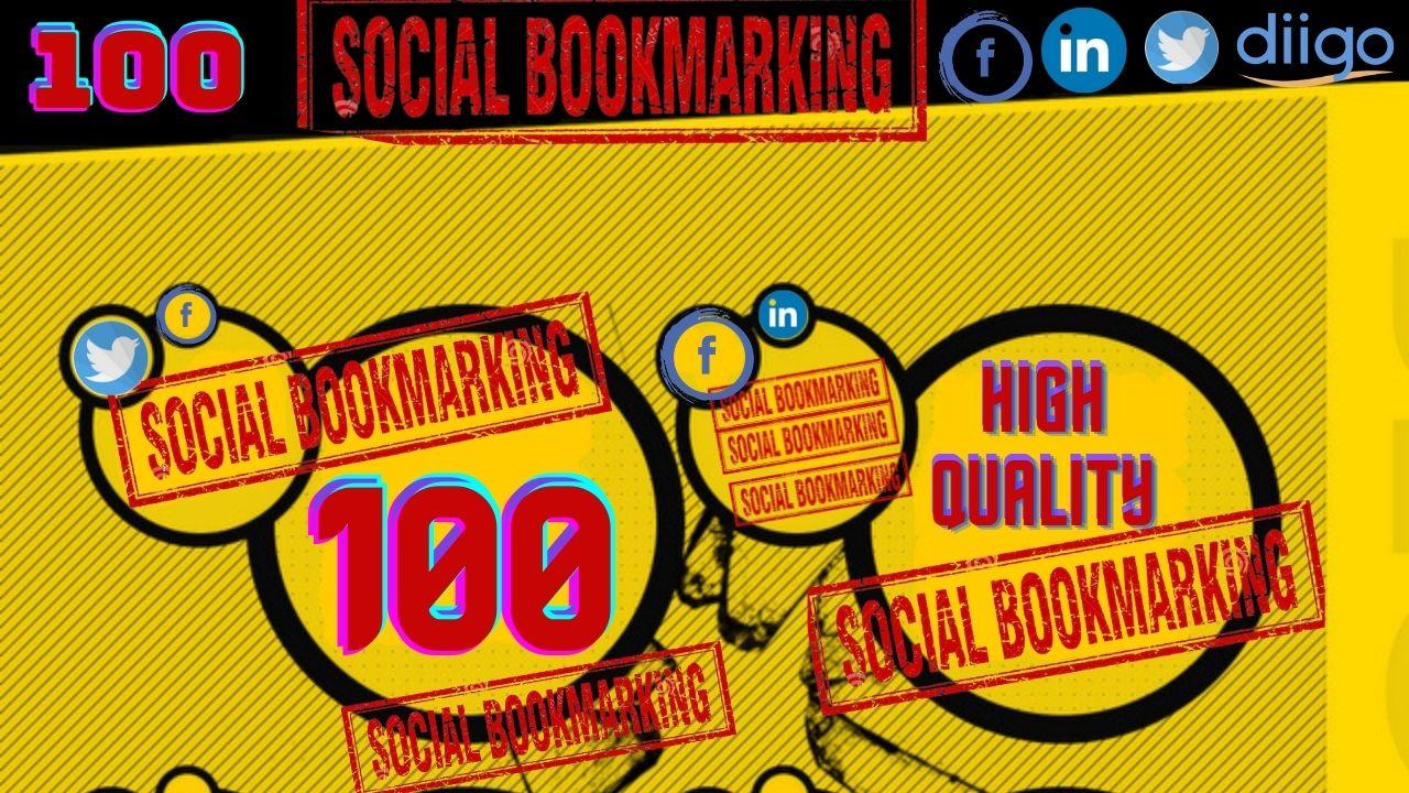 Do 100 social bookmarking to create dofollow SEO backlinks for google top ranking